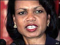 US Secretary of State Condoleezza Rice in Haiti