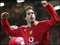 Manchester United goalscorer Ruud van Nistelrooy