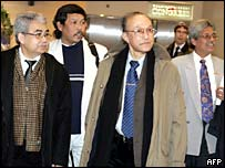 Gam delegation arrives in Helsinki - 20/02/05