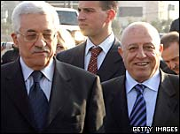 Mahmoud Abbas and Ahmed Qurei