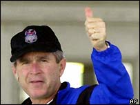 George W Bush in November 2000