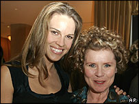 Hilary Swank and Imelda Staunton