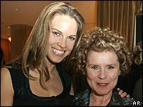 Hilary Swank and Imelda Staunton