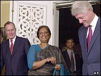 Bush Snr, Kumaratunga and Clinton