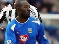 Portsmouth striker Loman LuaLua