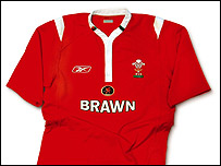 Welsh rugby 'Brawn' shirt