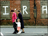 Grafitti in West Belfast in 2001