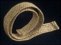 Gold Bracelet from the Burton Hoard ( picture National Museums & Galleries of Wales)