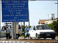A crossing point in Nicosia between Greek and Turkish Cyprus