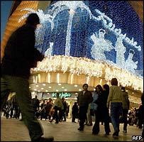 Shoppers in Madrid's Preciados Street