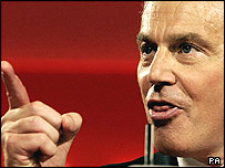 Picture of Prime Minister Tony Blair