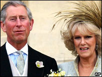 The Duke and Duchess of Cornwall on their wedding day