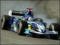 Jacques Villeneuve tests in the Sauber