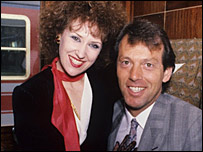 Anita Dobson and Leslie Grantham in EastEnders