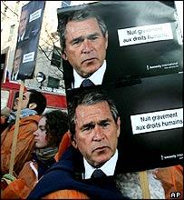 Anti-Bush demonstration
