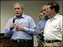 President Bush and DeLay on 23 September in Austin, Texas