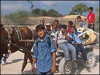 Niños en la Franja de Gaza.