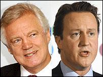 David Davis and David Cameron