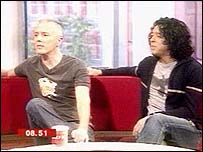 Curt Smith (left) and Roland Orzabal in the Breakfast studio