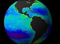 Imagen del planeta Tierra, gentileza NASA