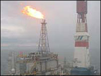 Oil field off Russia's Sakhalin peninsula