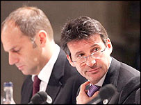 Sir Steve Redgrave and Lord Coe on official London 2012 duties