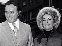 Richard Burton, pictured with Elizabeth Taylor, when he was awarded his OBE in 1970