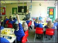 Classroom scene (BBC)