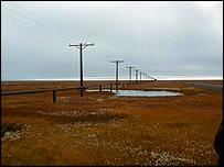 A permafrost landscape