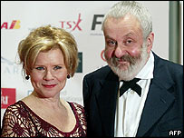 Imelda Staunton and Mike Leigh