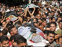 Funeral of slain militants in Jenin