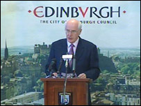 Edinburgh vote result being announced