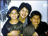 Shazia was killed in front of her children before he slit their throats