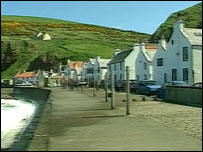 The coastal town of Pennan was the location for Local Hero