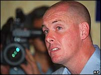 Nick Leeson following his release in 1999