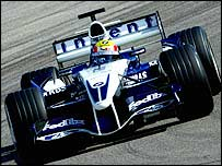 Williams driver Mark Webber tests in Valencia on Tuesday