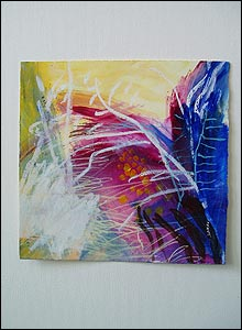 Photo of a colourful abstract design based on nerve endings