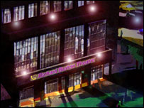 Theatre - a night-time artist's impression