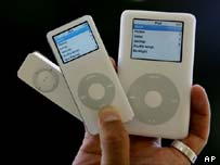 A handful of iPods, AP