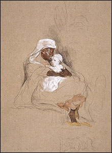 Negro Nurse with White Baby by David Wilkie (1840)