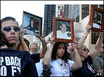 9/11 victims' families protest against the International Freedom Center