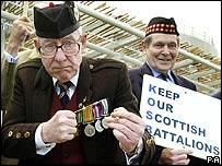 Protesting veterans