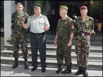 General Delic (second from left)