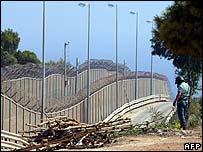 Border fence in Melilla