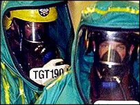 Biological terror attack drill, London, Sep 2003