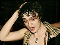 Singer Pete Doherty leaves The Garage, Highbury Corner in north London, Monday 21 February