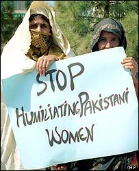Women protesting in Islamabad