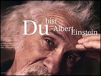 Campaign poster showing Albert Einstein