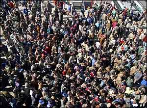 Stranded Jammu bus passengers