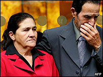 Jean Charles de Menezes' mother and father outside the IPCC
